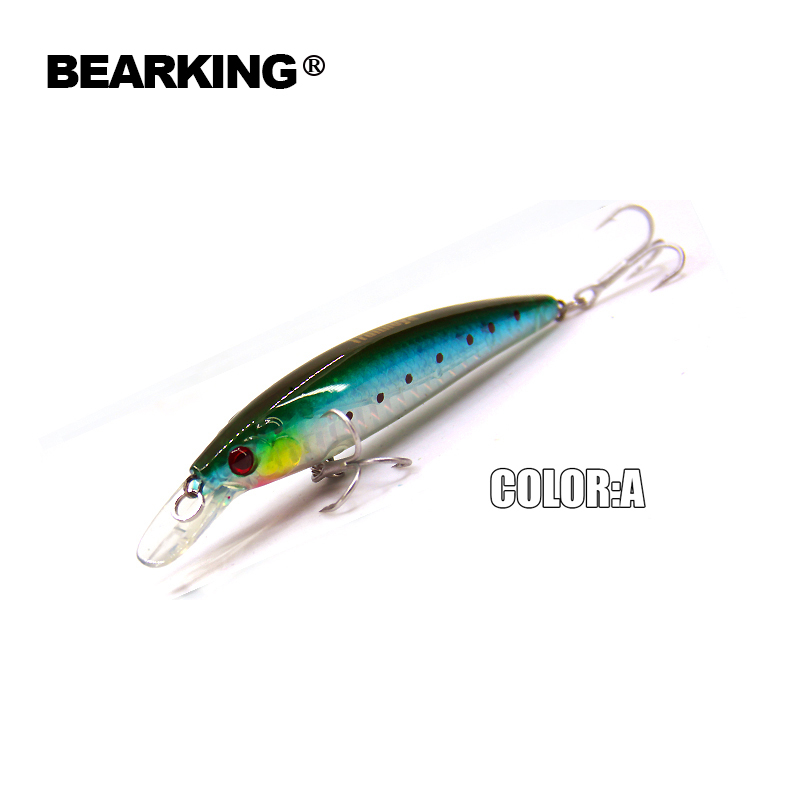 5pcs/.lot 2017 good A+ fishing lures minnow,quality professional 3D minnow. 9.5cm/9g bearking crankbait,free shipping