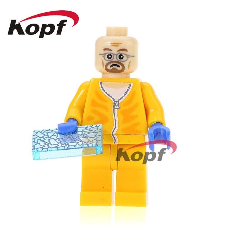 50Pcs KL063 Super Heroes Jesse Pinkman Hank Schrader Walter White Breaking Bad Bricks Set Model Building Blocks Kids Gift Toys