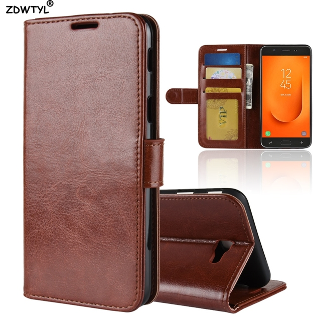 best sneakers 52e8b 9f200 US $4.15 |For Samsung Galaxy J7 Prime 2 2018 J7 Prime2 G611F G611 Luxury PU  Leather Back Cover Case For Samsung Galaxy J7 Prime 2 Case-in Wallet Cases  ...