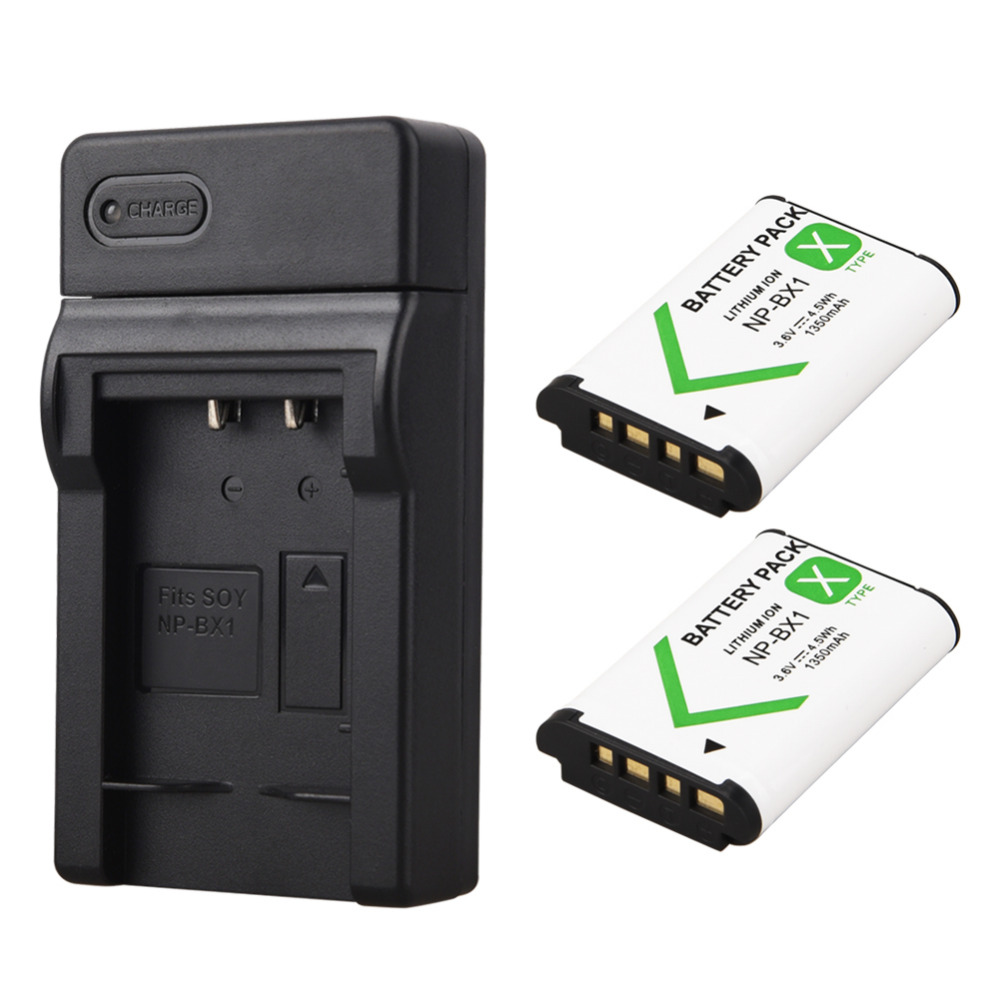 2x1350 mAh bateria NP-BX1 NP BX1 batería + cargador USB para sony dsc RX1 RX100 M3 M2 RX1R GWP88 PJ240E AS15 WX350 WX300 HX300 HX400