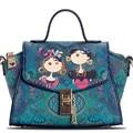 Original Fashion 2016 Women Ladies Green Forest Cartoon Designer Handbags Shoulder Messenger Crossbody Mini Bags Trapeze Totes