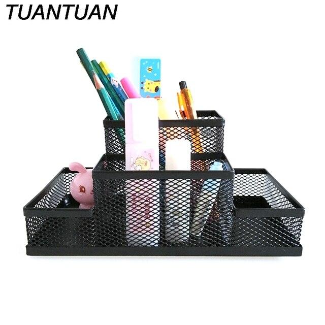 Superbe TUANTUAN Metal Pen Holder Office Home Supplies Top Quality Beautiful Design  Sturdy Mesh Desk Organizer Metal