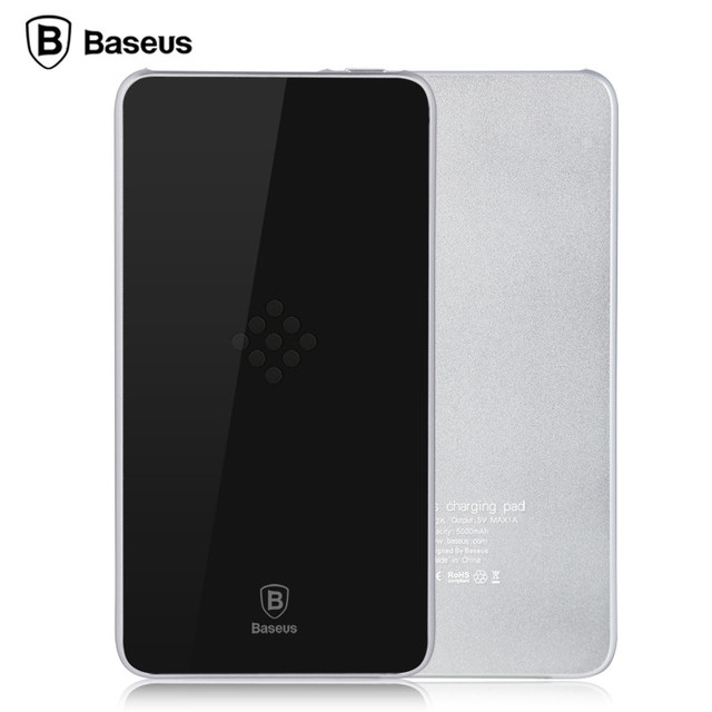 BASEUS Flagship Wireless Charging Base Power Bank 5000mAh Backup Battery Fast Charger for iPhone for Samsung all Mobile Phones