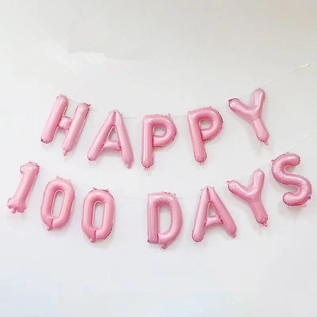 aliexpress com buy 12pcs lot 16 inch balloon happy 100 days old