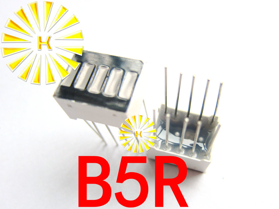 50PCS X 5 Segment Red Green Blue Digital Tube LED Bar 10*12.5mm Display Module B5R B5BB B5G