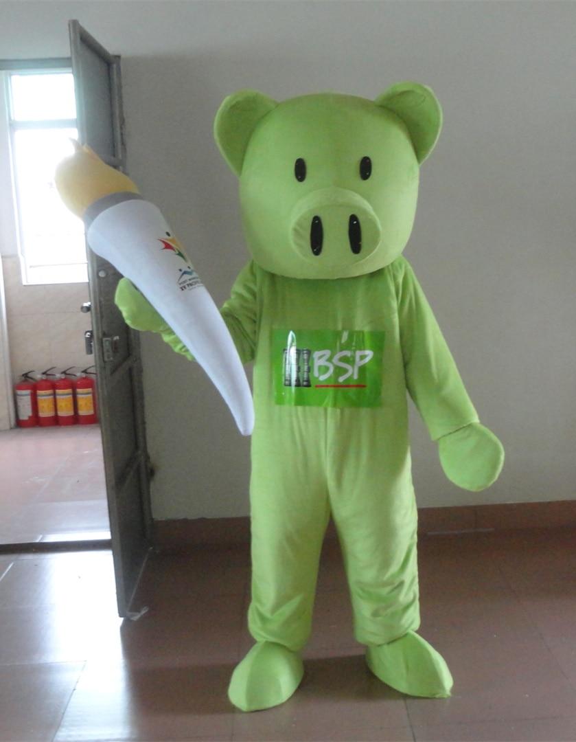 Costume de mascotte de cochon vert cosplay Costume de personnage adulte costume de mascotte Cosplay vêtements spéciaux de vacances avec livraison gratuite
