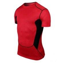 Мужская баскетбольная плотная спортивная одежда короткий рукав Джерси материал PRO дышащая быстросохнущая Базовая компрессионная рубашка