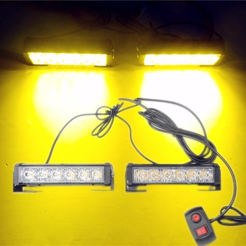 Car Styling 36W 12V High Power 12 LED Automobile Flashing Strobe Lamp Truck Traffic Warning Lightbar Auto Daytime Running Lights