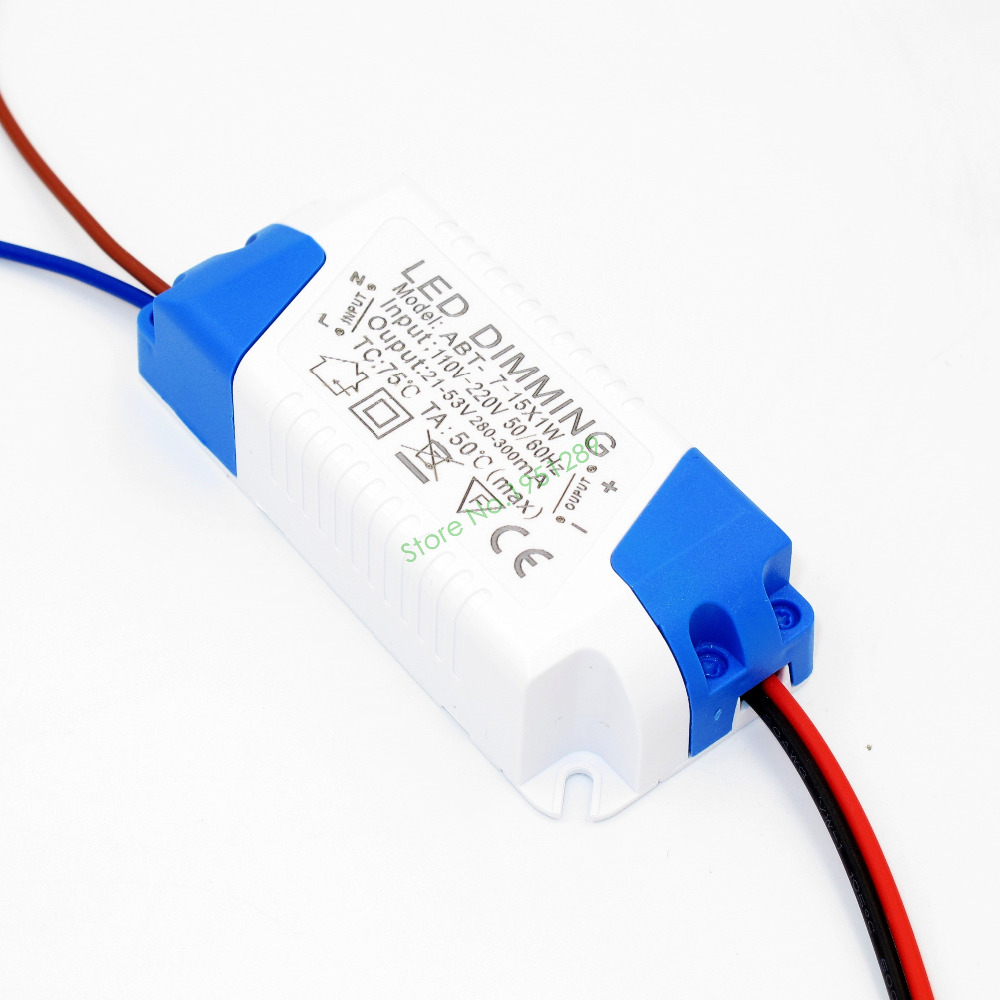 Dimmable 300mA 7-15x1W DC 21V - 53V <font><b>Led</b></font> Driver 7W 8W 9W 10W 12W <font><b>15W</b></font> Power Supply AC 110V <font><b>220V</b></font> for Dimmable <font><b>LED</b></font> lights image
