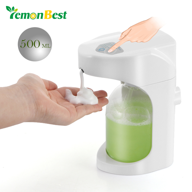 500ml Automatic Soap Dispenser Touchless Sanitizer Dispenser Built In  Infrared Smart Sensor For Kitchen Bathroom