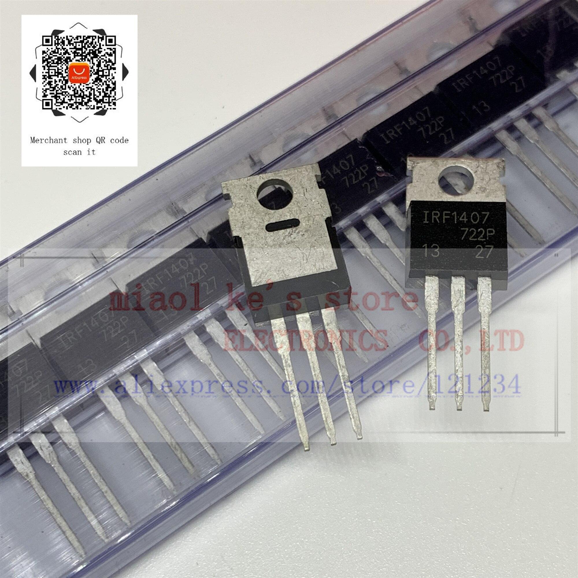 [ 5pcs-10pcs]100%New Original; IRF1407 IRF1407PBF - MOSFET N-Channel 75V 130A(Tc) 330W(Tc) TO-220AB