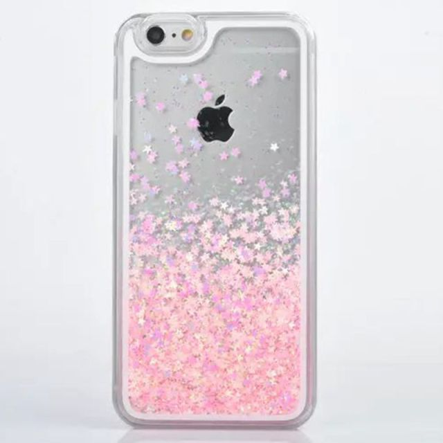 promo code e83e6 a76b7 US $3.73 |For IPhone 5s Case Transparent Hard PC Cover Dynamic Liquid  Glitter Sand 3D Stars Back Case Cover Capa Para for Apple IPhone 5-in ...