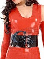 100% pure natural latex Women Latex Corsets Female Black Latex Zentai corset with knitting latex costumes waist trainer Free shi