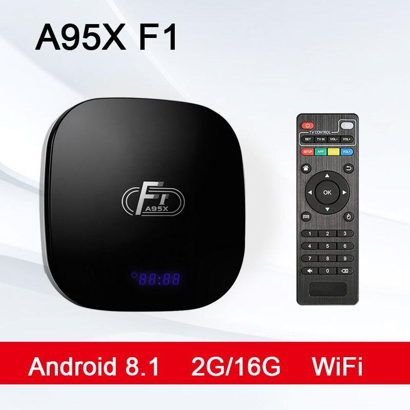 A95X F1 TV box  2GB 16GB Quad Core Suppot SPDIF 30tps 2.4GHz WiFi Media Player PK X96 mini Set Top Box tv box  android 8.1A95X F1 TV box  2GB 16GB Quad Core Suppot SPDIF 30tps 2.4GHz WiFi Media Player PK X96 mini Set Top Box tv box  android 8.1