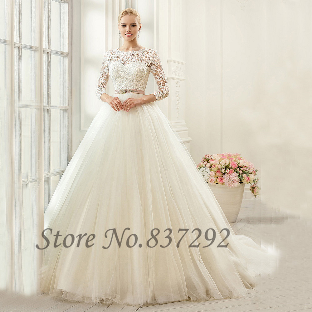 gelinlik ivory vintage wedding dresses long sleeve lace wedding
