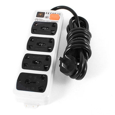 AU EU UK USType Socket Power Strip 7 Outlet Splitter 3Meter AC 250V 10A