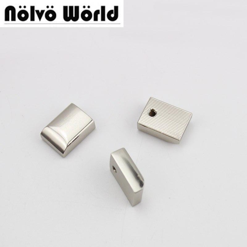 50pcs 5 Colors 18X10mm Handbag Purse Zipper Decoration End Clips By Screws,zip Strap Cover Clasp Accessory