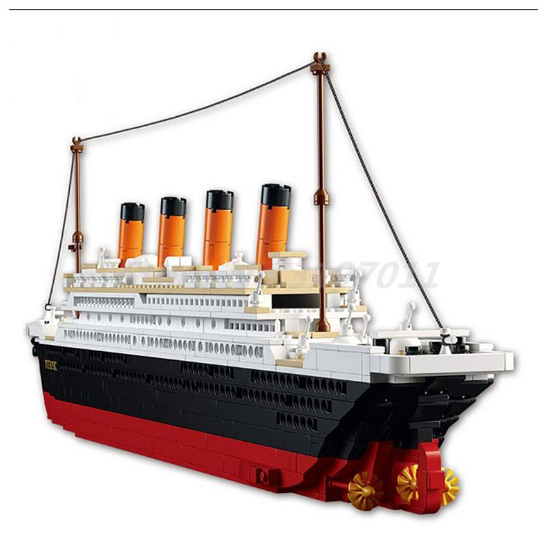 1021PCS Sluban B0577 Building Blocks Sets Cruise Ship RMS Titanic Ship Boat 3D Model Educational Toys For Kids Gifts sluban building blocks toy cruise ship rms titanic ship boat model educational gift toy for children compatible legodd 1021pcs