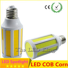 Super Bright COB LED Bulb 10W 15W 20W E27 LED light lamp 180 degree Corn bulbs White AC85-265V Horizontal Plug Spot downlights(China)