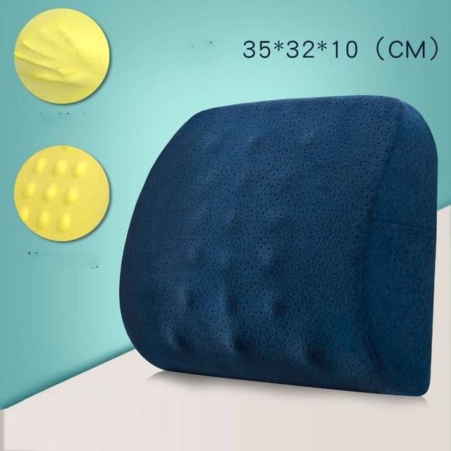 Memory Foam Seat Chair Cushion Decorative Orthopedic Coccyx Seat Cushion Office Massage Lumbar Pillow Bamboo Charcoal Seat Pad