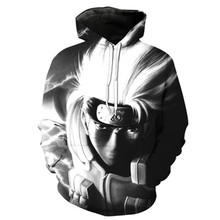 3D Sweatshirts Men/Women Hoodies With Hat Naruto Hatake Kakashi Hoodies