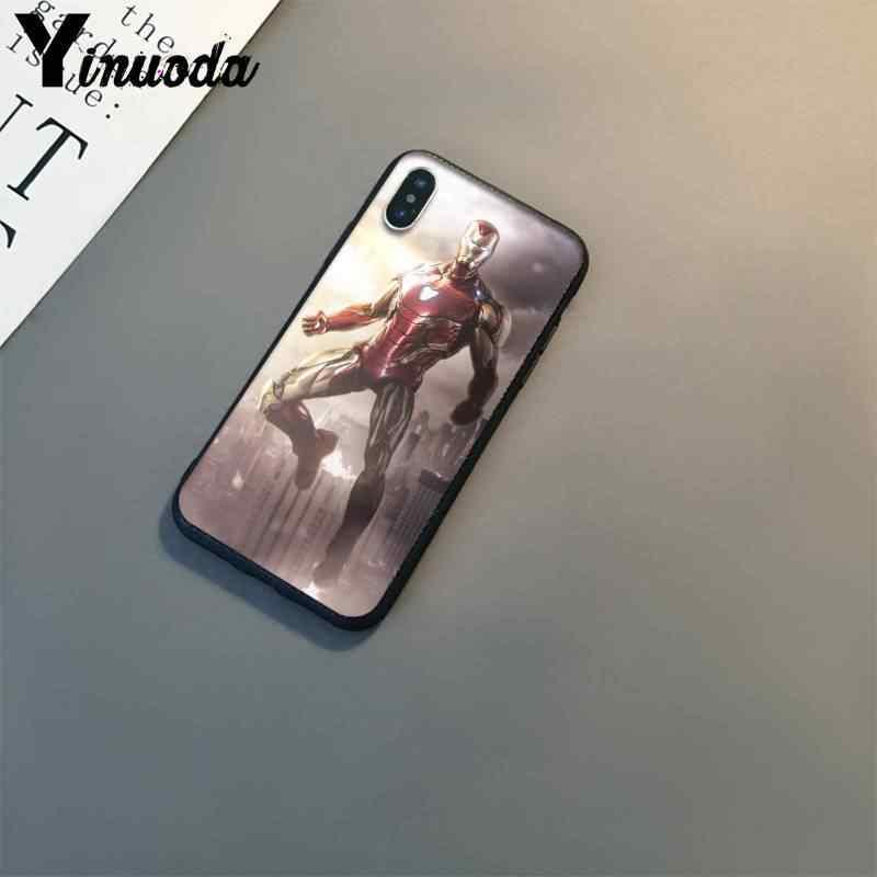 Yinuoda homem de ferro espaço armadura marvel moda caso telefone para iphone 8 7 6 s 6 plus x xs max 5 5S se xr 10 11 11pro 11promax