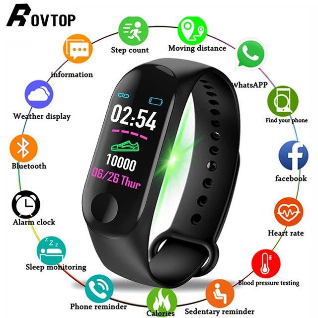 M3 زائد ساعة ذكية للرجال شاشة ملونة IP67 مقاوم للماء ساعة ذكية ضغط الدم معدل ضربات القلب النشاط جهاز تعقب للياقة البدنية الرجال ساعة