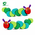 Toys for children WoodenRed-headed caterpillar Kids Child Baby Toys Preschool Early Educational Toy