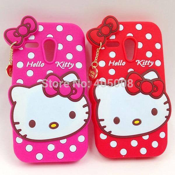 best loved d2962 08928 3D Lovely Cute Hello Kitty Silicon Back Case For Motorola Moto E ...