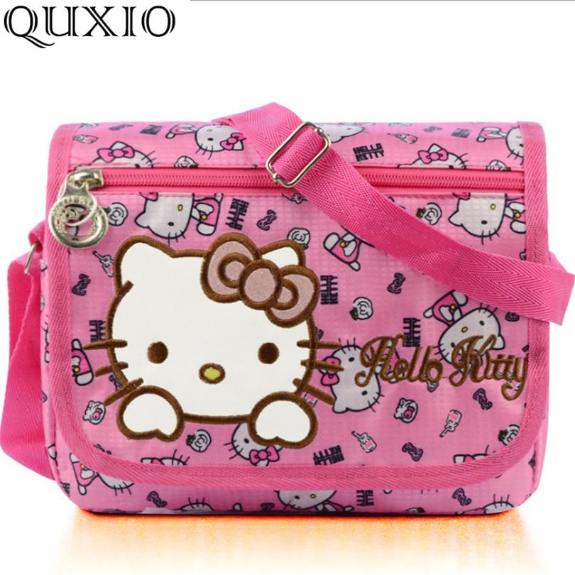 2511b4740 Hello Kitty Women Messenger Bags Young Lady Pretty Cartoon Bag Pink Nylon Crossbody  Bag for Children Girls Birthday Gift TS641-in Crossbody Bags from ...