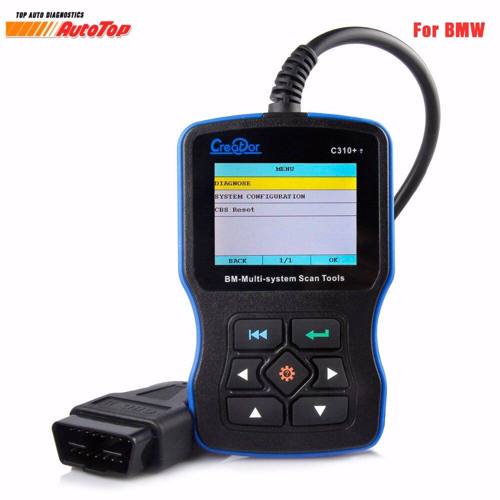 2018 OBD2 Scanner pour BMW e46 e90 e60 e39 Créateur C310 + Pro V8.0 Airbag/ABS/SRS De Diagnostic scan Outil de Réinitialisation Pour BMW Lecteur de Code