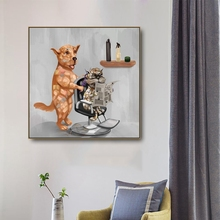 Cartoon Dog Animals Canvas Painting Wall art Picture for Living Room Bedroom Art Poster Decoration Morden Print