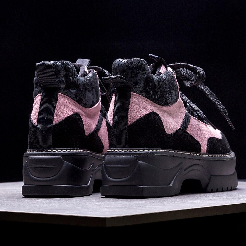 Vache 35 Daim Doratasia up 42 Plat Chaussures 2019 Casual Doux forme Automne Noir Naturel En Fille Plate Appartements rose Dentelle Femmes Femme wUFtqFXO