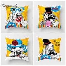 Fuwatacchi Cartoon Dog Cushion Cover French Bulldog Maltese Cat Pillow Home Chair Sofa Gift Decor  Pillowcase