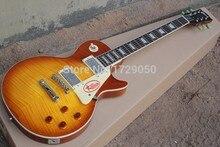 Freies verschiffen LP E-gitarre 1959 R9 Tiger Flamme e-gitarre Standard LP 59 Hochwertige E-gitarre 2015 1