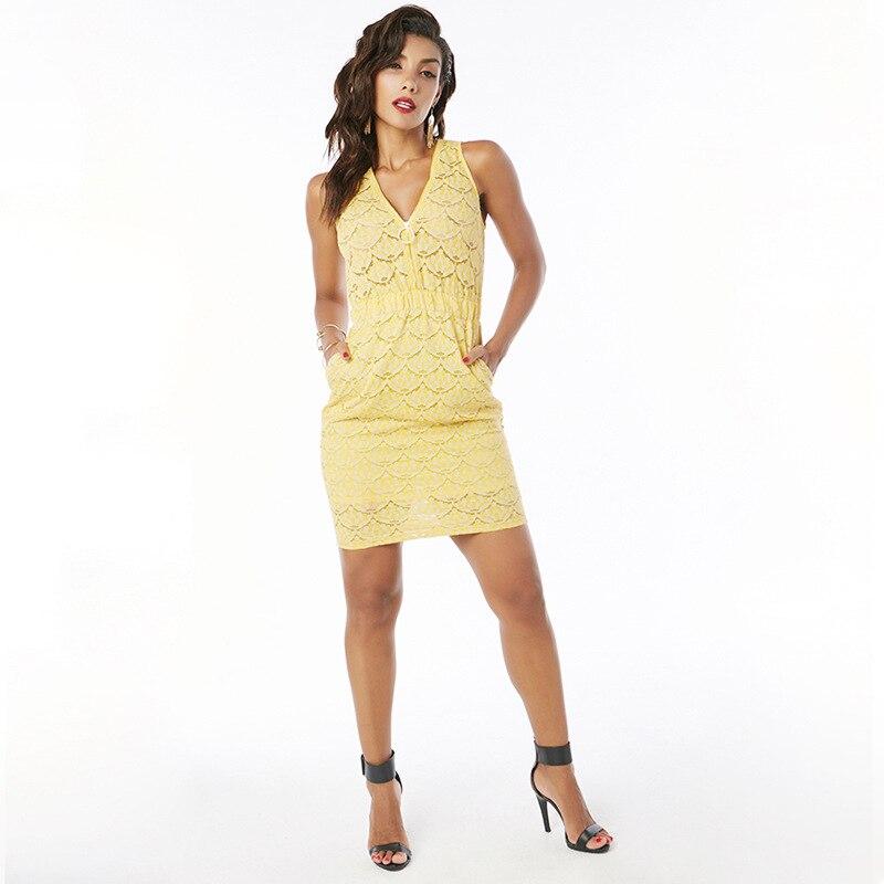 Vestito pizzo giallo h&m