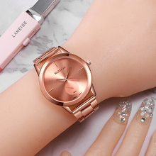 WoMaGe 2020 Women Watch Fashion Luxury Rose Gold Stainless S
