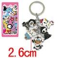 Anime Cartoon tokidoki Metal Alloy zinc Figures Keychain fashion pendants charms phone straps model Cosplay keyring figure toys