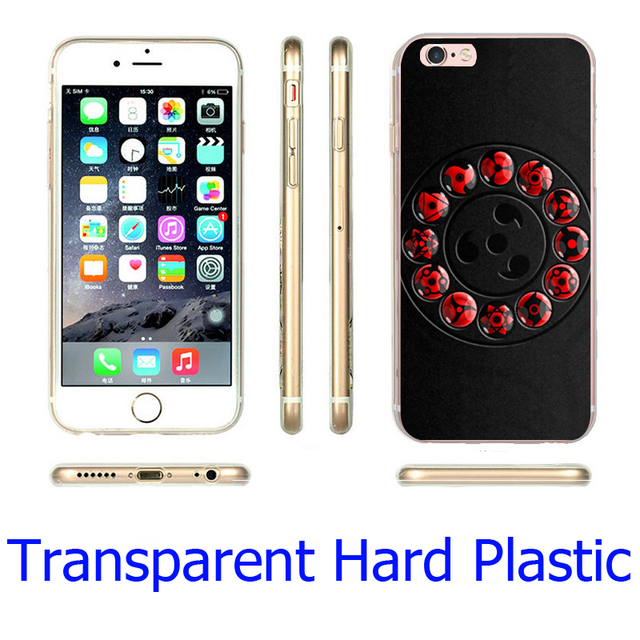 Sharingan Naruto Black Hard Phone Case for iPhone
