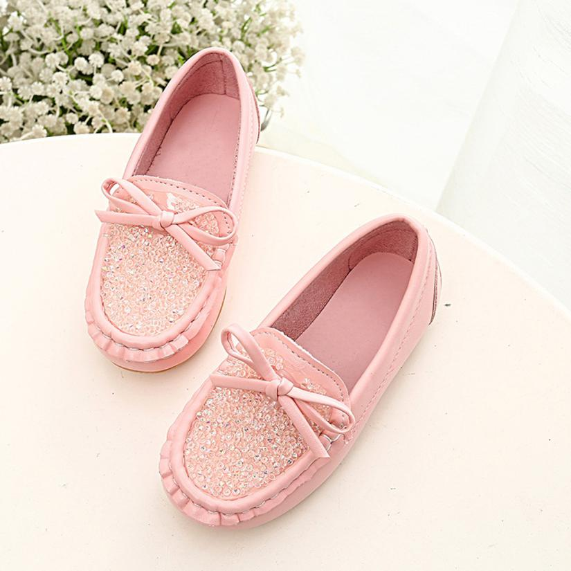 1T-6T Cute Children's Shoes Peas Flat pu leather diamond Shoes for girls spring autumn Toddler Little girl  kids casual shoes