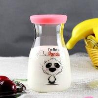 400 ml Bottiglie di Latte Misurino Di Vetro con Coperchio In Silicone Protettiva Latte Caffè Bottiglia di Acqua di Vetro per I Bambini Bambini