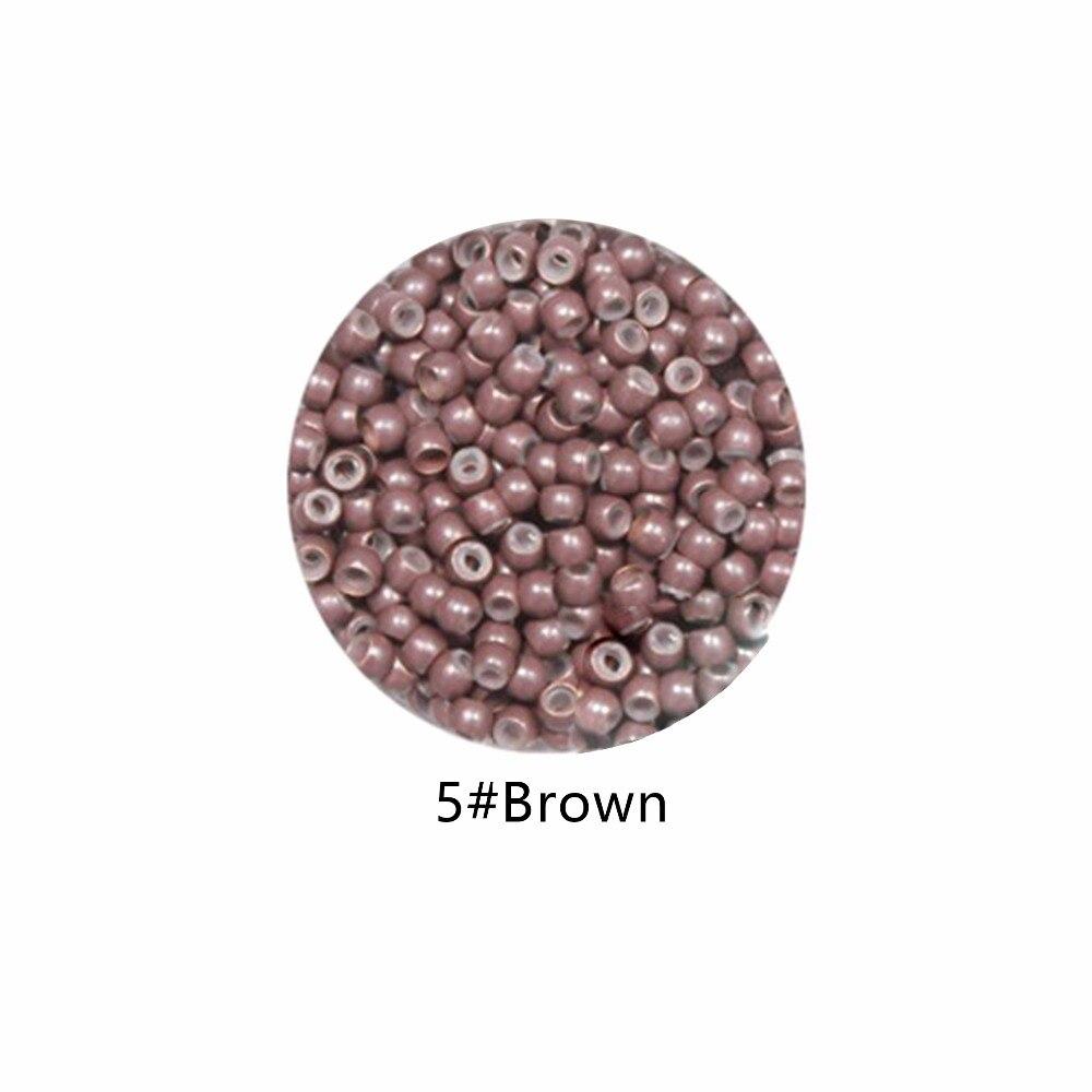 1000 шт. силиконовые nano кольца для нано кольца выдвижения волос подсказки инструменты 5 # коричневый цвет