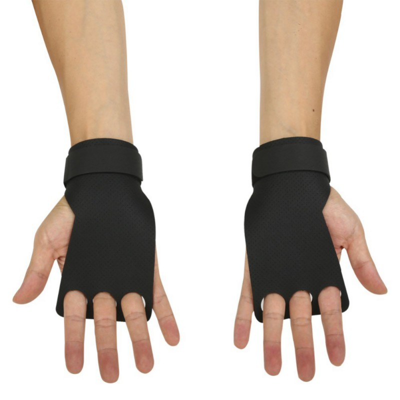 Silicone Non-slip Breathable Safety Fitness Weight Lifting Training Hand Cuffs Gloves Bodybuilding Gym Sport Gloves