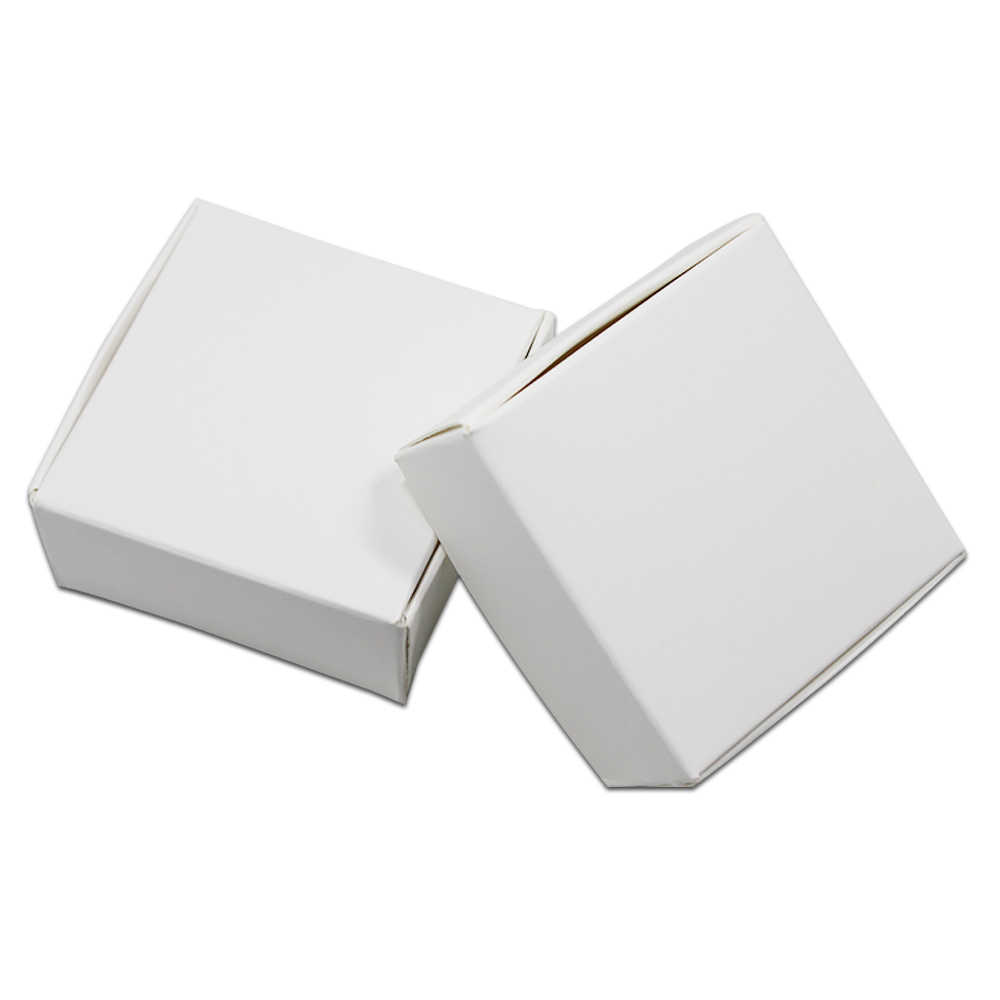 20Pcs White Kraft Paper Gift Box Natural Craft Carton Paper Packaging Box for Wedding Party Christmas Favor Candy Soap Pack