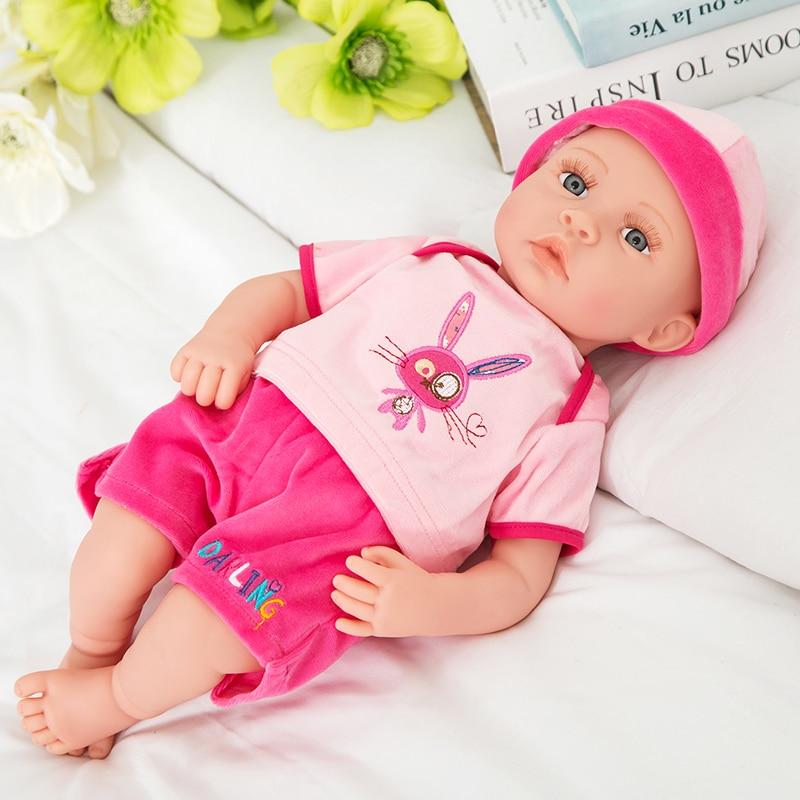 Ny 18-tommers livlig gjenfødt baby myk vinyl ekte touch dukke - Dukker og tilbehør - Bilde 4