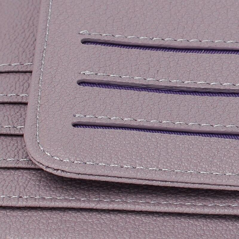 curto feminino dreabasaa dinheiro de Interior : Note Compartment, photo Holder, suporte de Cartão