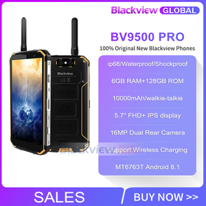 Image 2 - Смартфон Blackview BV9500 Pro, экран 5,7 дюйма 18:9, 10000 мАч, влагозащита IP68, 6 ГБ 128 ГБ, беспроводная зарядка, мобильный телефон глобальной версии