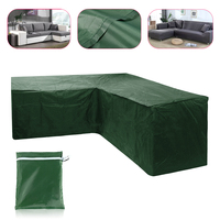 Waterproof Outdoor Furniture Cover Garden Sofa Bench L Shape Dustproof Cover Protection Polyester Cloth 215X215X87CM