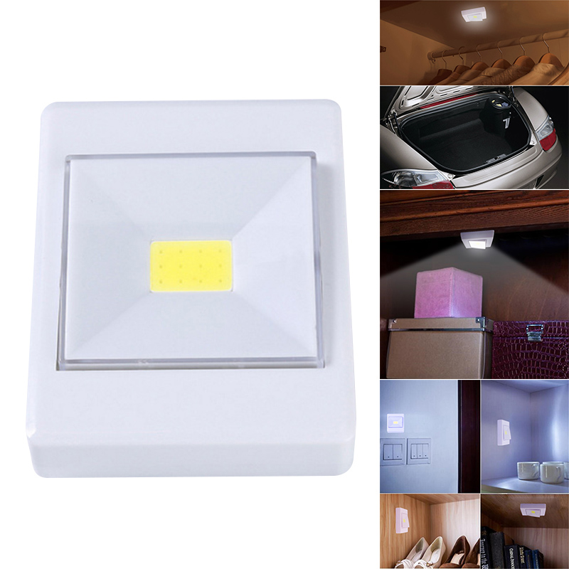 3W COB LED Light Wall Switch Wireless Closet Cordless Dimmable Night Light Battery Operated Kitchen Lamp LB88