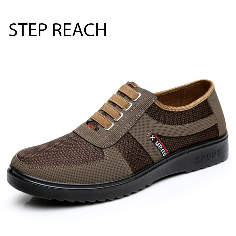 STEPREACH Brand shoes men adult rubber solid Slip On flats breathable comfort tenis masculino adulto sapato zapatos hombre sneak ...